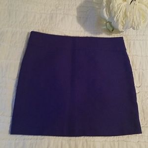 J.crew size 8 purple skirt
